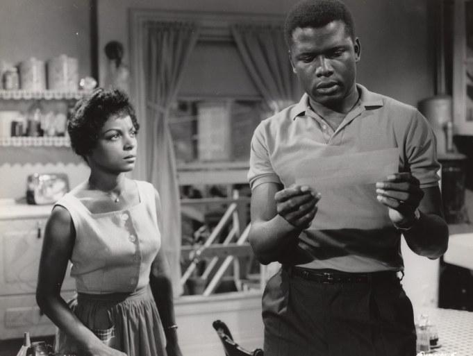 Ruby Dee, Sidney Poitier in 'A Raisin In The Sun' - 1961