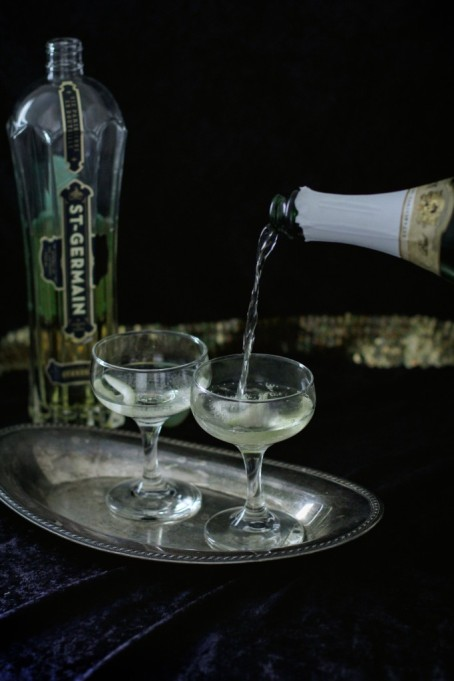 St. Germain-champagne cocktail