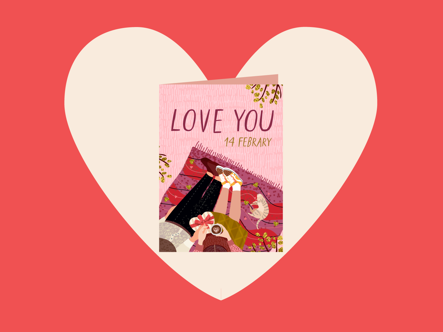 Just because I LOVE YOU card anniversary friendship card valentine/'s day lover card just because card sweetheart boyfriend girlfriend cards