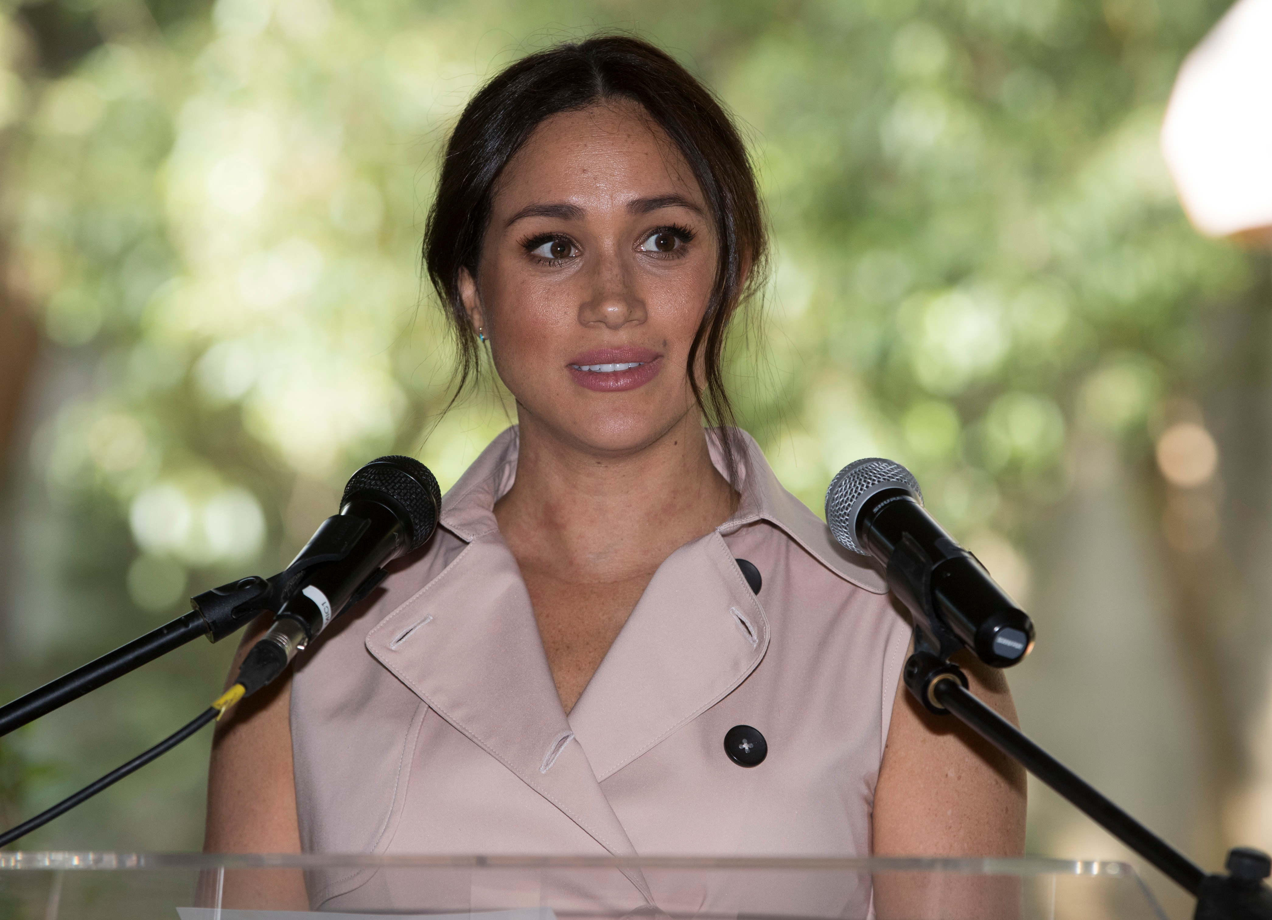 Meghan Duchess of Sussex at a business reception at the British High Commissioner's Residence in Johannesburg, South AfricaPrince Harry and Meghan Duchess of Sussex visit to Africa - 02 Oct 2019