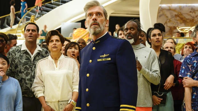 Rebecca Front and Hugh Laurie in