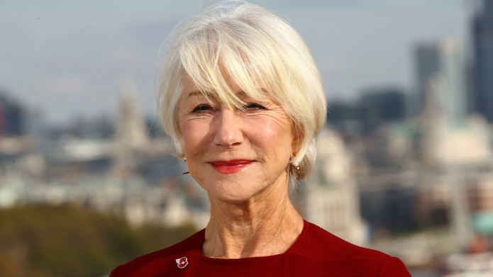 Helen Mirren poses for photographers at