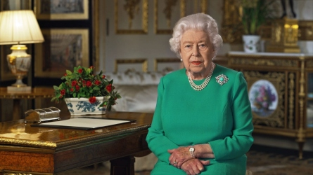 Queen Elizabeth II during her address