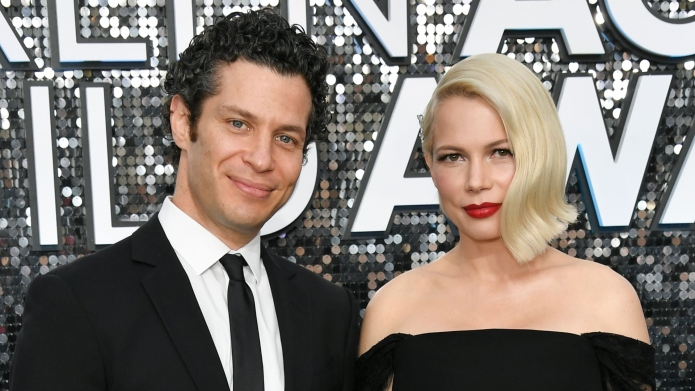 Thomas Kail and Michelle Williams attend