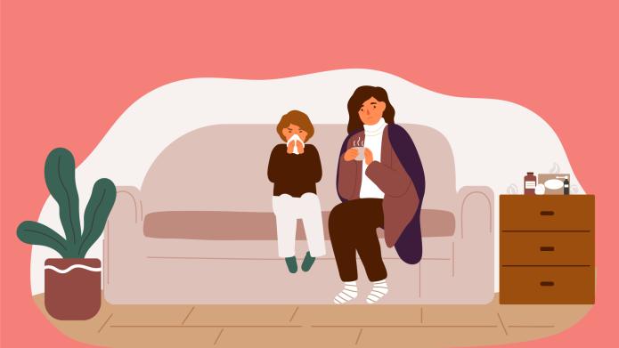 single mom sick