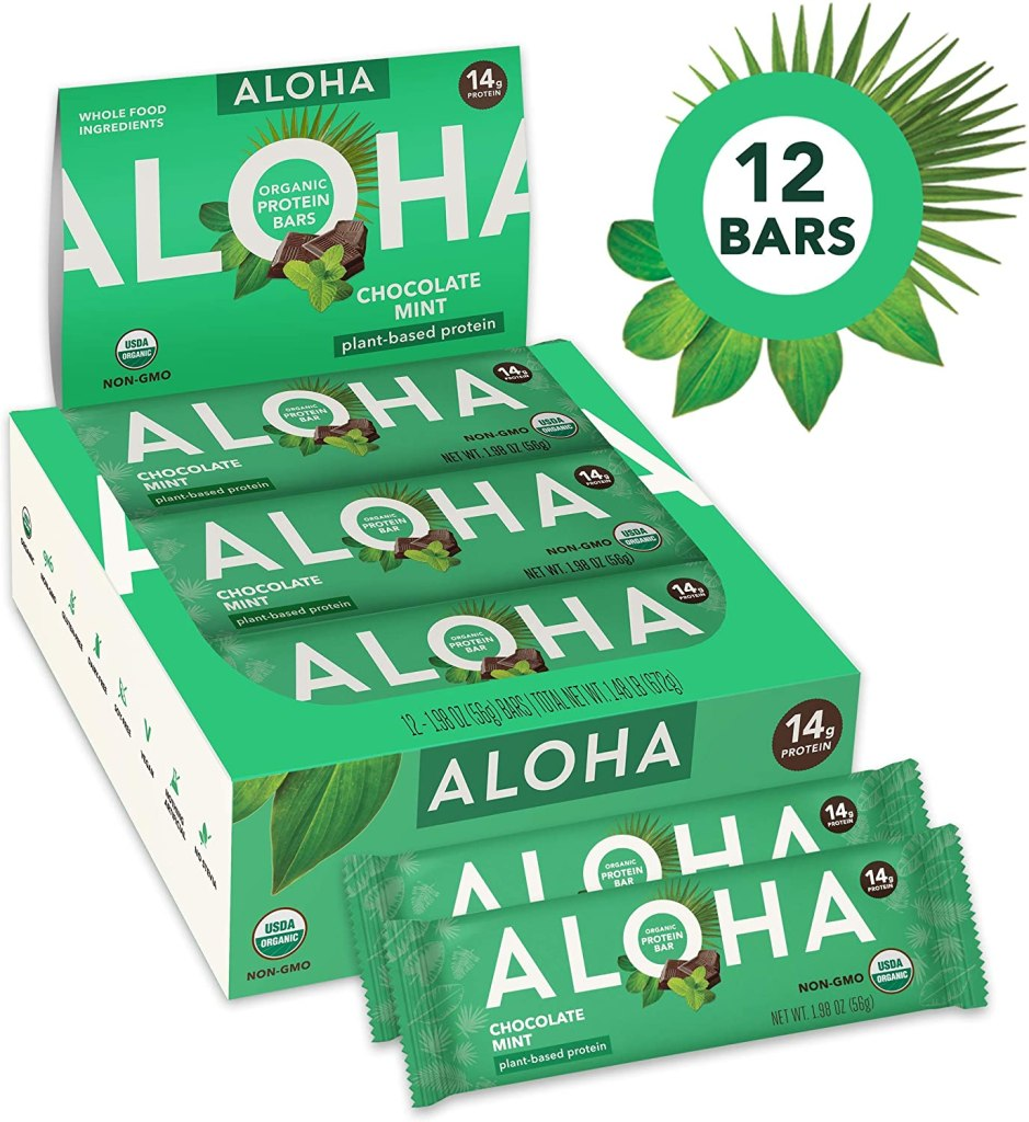 Aloha Organic Protein Bar Best Paleo Bars on Amazon