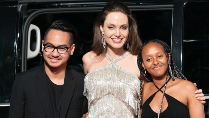 Maddox Jolie-Pitt, Angelina Jolie and Zahara