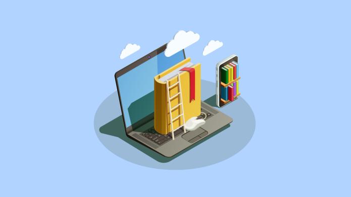 virtual school computer book
