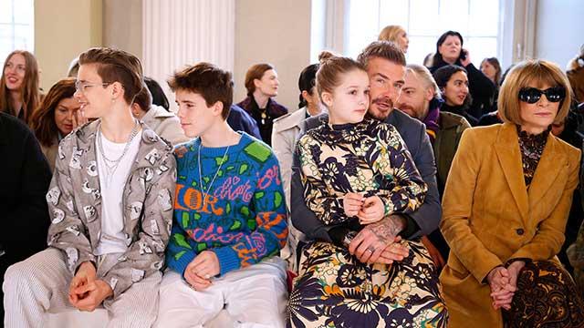 Romeo, Cruz, Harper and David Beckham