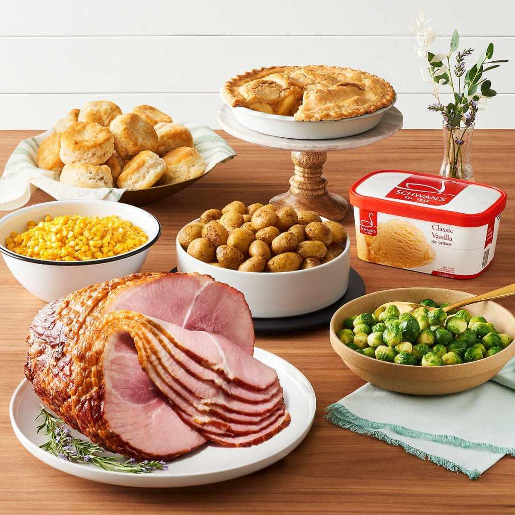 Costco Schwan's Spiral Ham Dinner