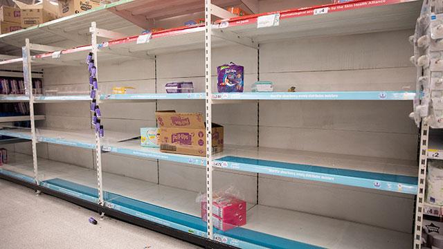 Empty Diaper Shelves Coronavirus Hoarding
