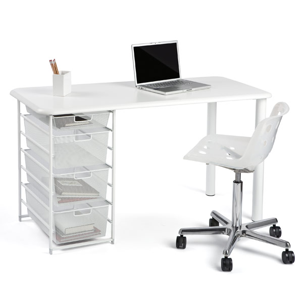 Elfa Mesh Desk Container Store Office Sale