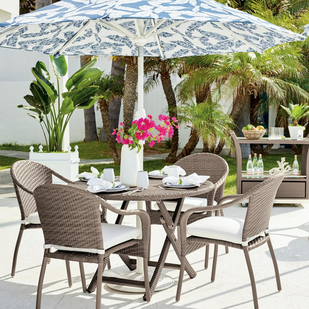 Cafe 5-Pc. Curved Back Chairs And Table Set