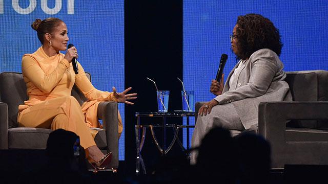 Jennifer Lopez and Oprah