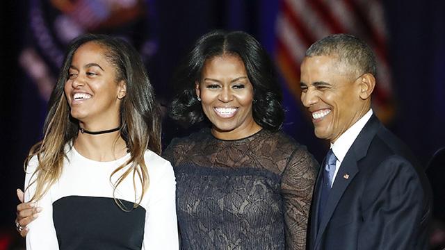 Malia Obama, Michelle Obama, Barack Obama