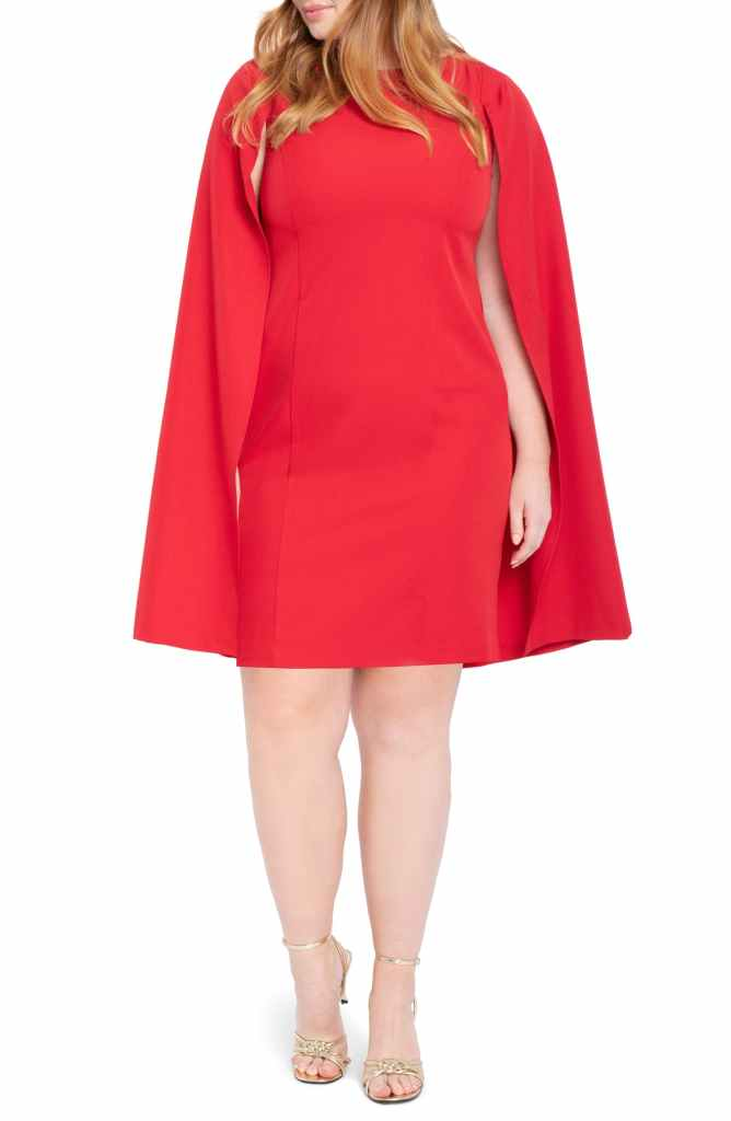 Nordstrom Plus Size Eloquii - Robe cape rouge