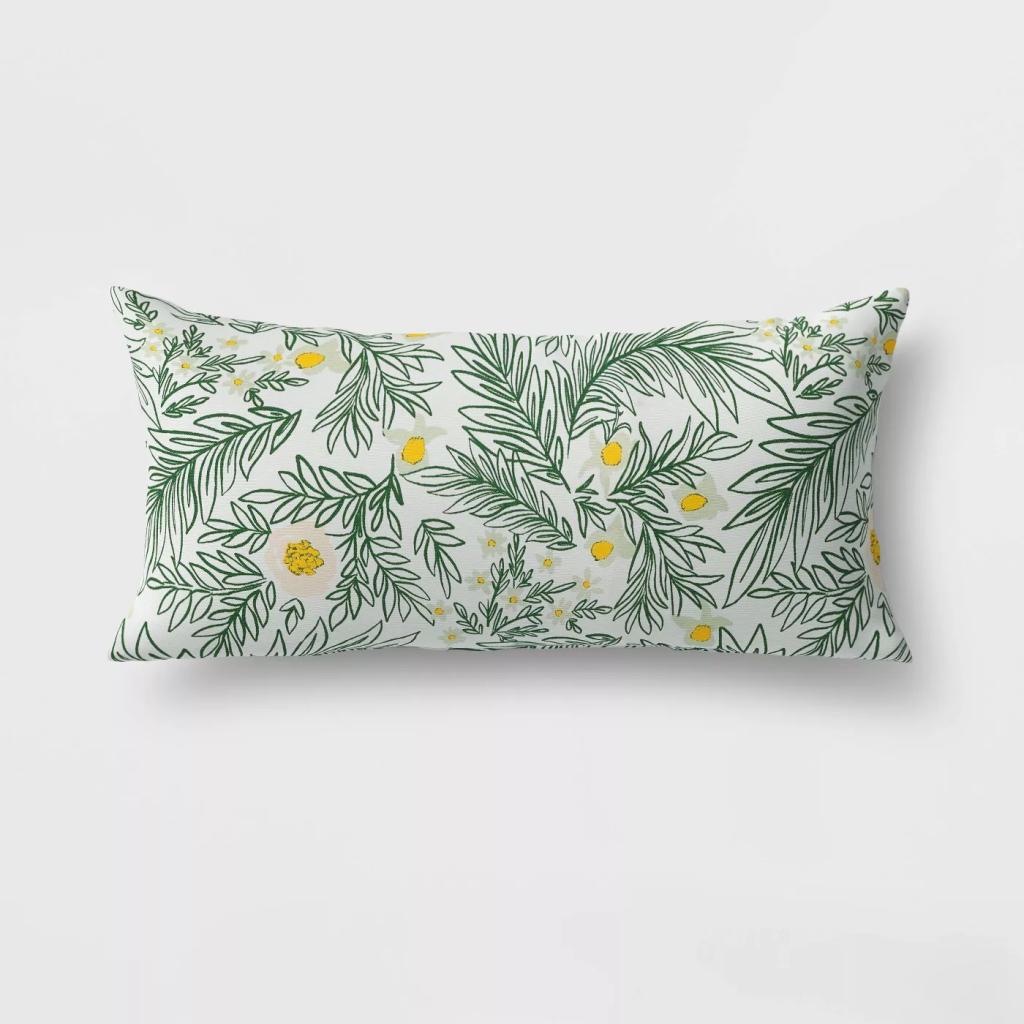 Spring Floral Lumbar Pillow