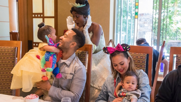 John Legend, Chrissy Teigen, daughter Luna,