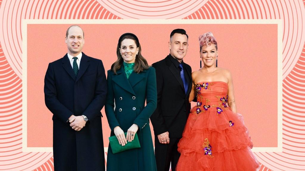 Kate Middleton, Prince William, Pink, Carey