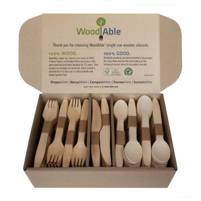 WoodU Disposable Wooden Eco-Friendly Utensils