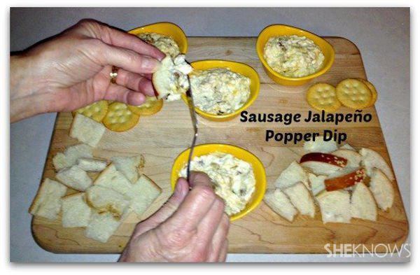 Sausage Jalapeño Popper Dip