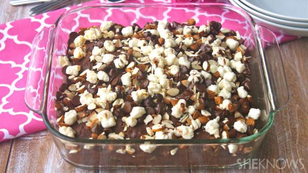 Gluten-free rocky road brownies