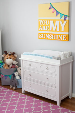 Nursery craft project:Sunshine wall art