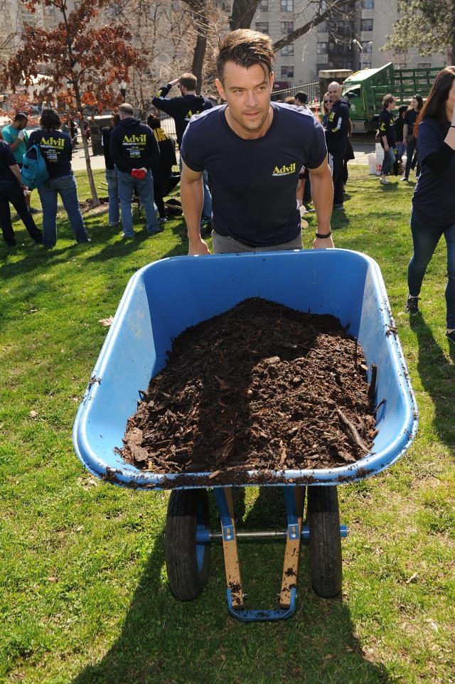 Josh Duhamel volunteering in the Bronx