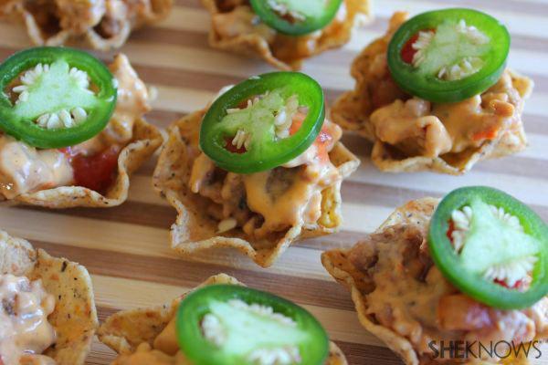 Mini nacho bites with sausage