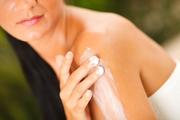 Applying lotion