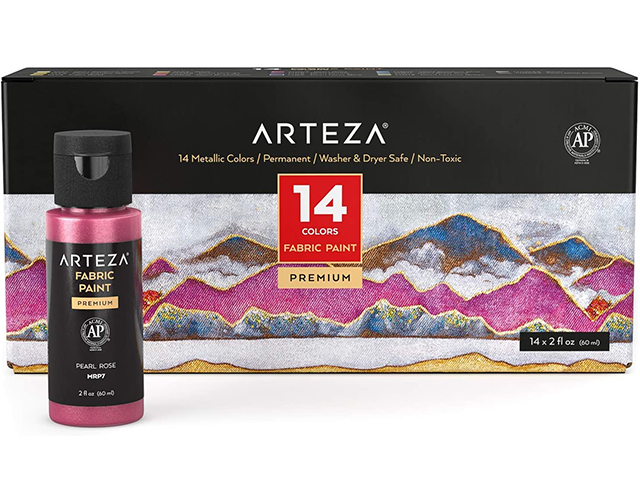 Arteza Best Fabric Paint on Amazon