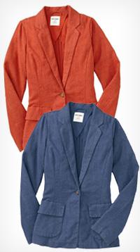 women's linen-blend blazer from Old Navy