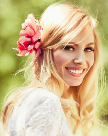 Woman with spring makeup