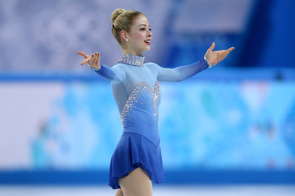 Gracie Gold competing in Sochi
