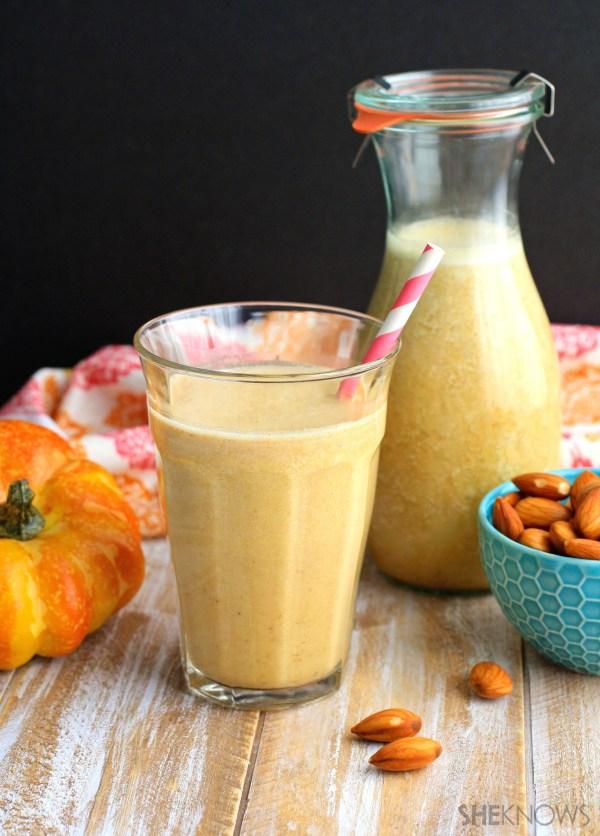 DIY Pumpkin spice almond milk