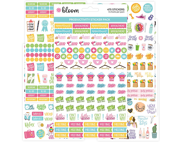 Bloom Best Productivity Planner Stickers on Amazon