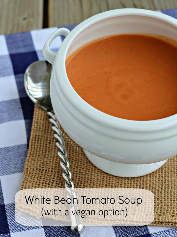 Tomato soup with white beans