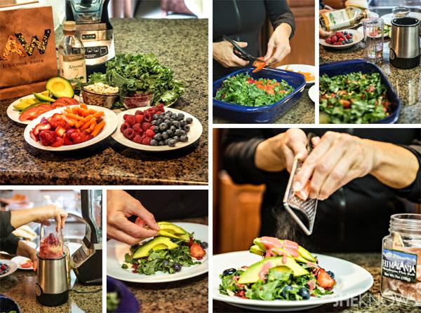 Healthy recipe: Raw organic superfood kale salad