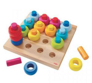 Haba Rainbow Whirls pegging game
