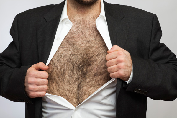 Man with hairy chest