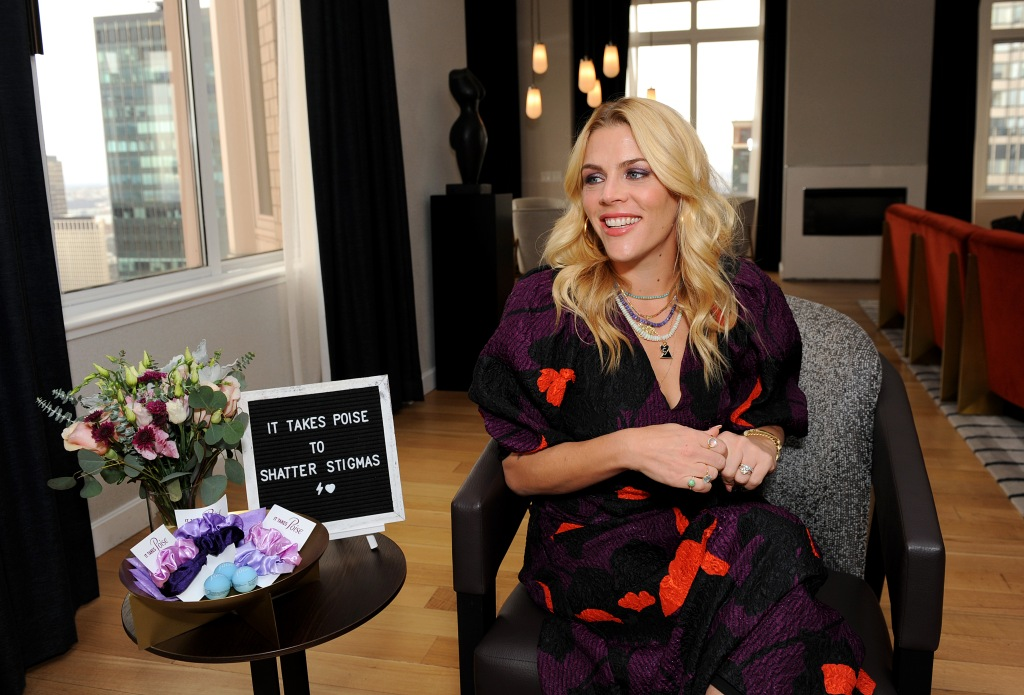 NEW YORK, NEW YORK - MARCH 10: Busy Philipps discusses the importance of shattering stigmas around below-the-belt women's health topics with Poise® brand on March 10, 2020 in New York City. (Photo by Simon Russell/Getty Images for Poise)