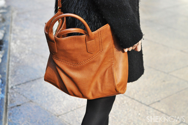 A leather bag will pull any look together in an instant.
