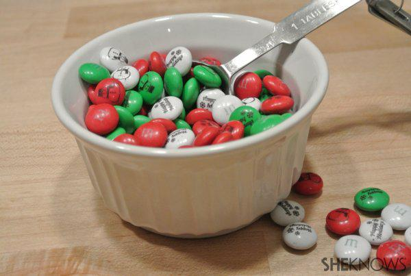 How to Make an Impression at Your Next Holiday Party - bag of m and ms