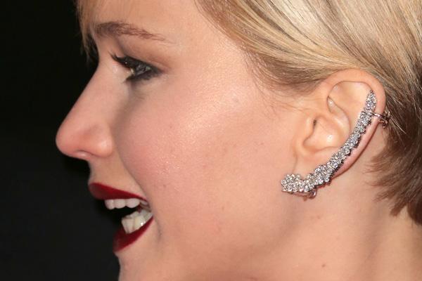 Jennifer Lawrence wearing an ear cuff