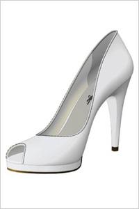 Shoes of Prey White Open-Toe Pumps