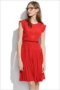 Silk Drop-Pleat Dress(Madewell $160)