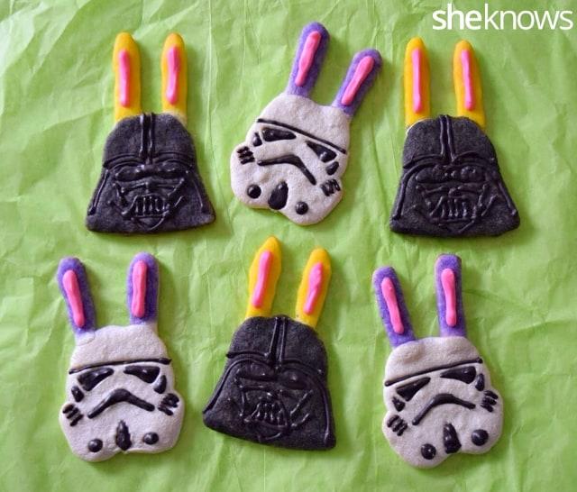 Star Wars cookies with bunny ears