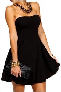 Windsor Black Strapless Scuba Skater Dress(Windsor, $30)