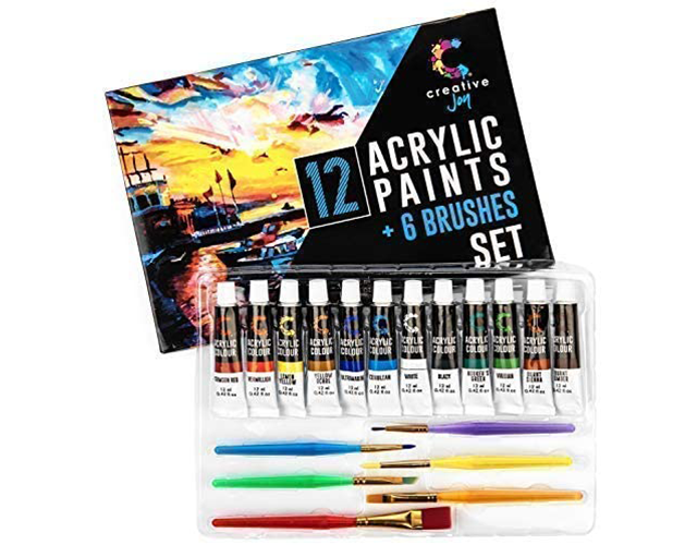 Creative Joy Best Acrylic Paint Set on Amazon