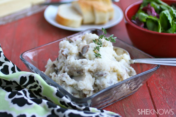 Garlic and mushroom mashed potatoes